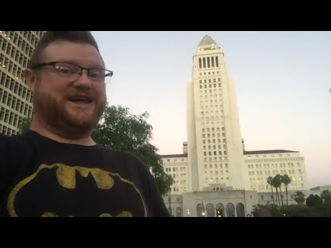 Adam West BatSignal Tribute LA Part 1
