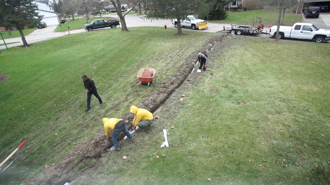 French Drain Installation Time Lapse