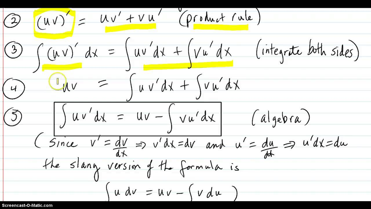 Derivation Of Formula