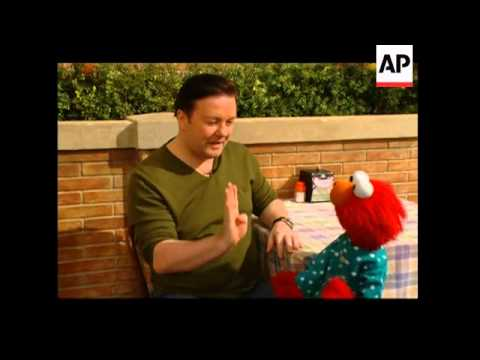 Download Ricky Gervais and Elmo team up on 'Sesame Street'