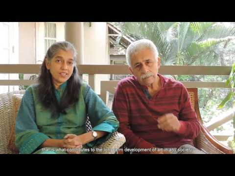 Small is Powerful ~ Naseeruddin Shah and Ratna Pathak Shah, Actors and IFA Patrons