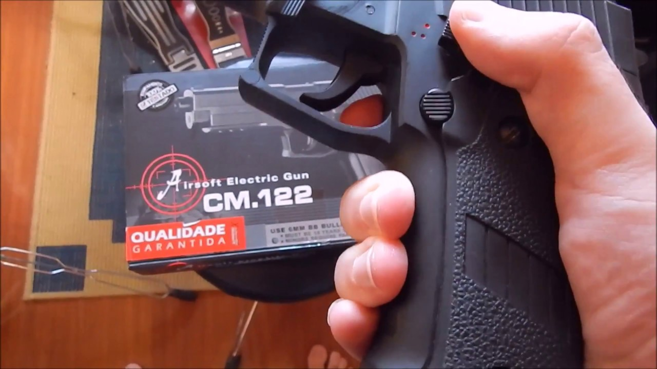 037c9a724aa Review Cyma CM 122 Airsoft Sig Sauer P226 - YouTube