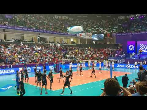 CEV Champions League Final Four Kazan 2018 Zenit-Kazan - Lube Civitanova warm up