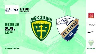 Záznam: MŠK Žilina B - FK Poprad 1:1 (0:0)