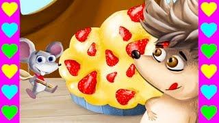Мультик про зверьков-кулинаров. Детский мультфильм про ёжика, белочку и мышку. Готовим пирог в лесу.