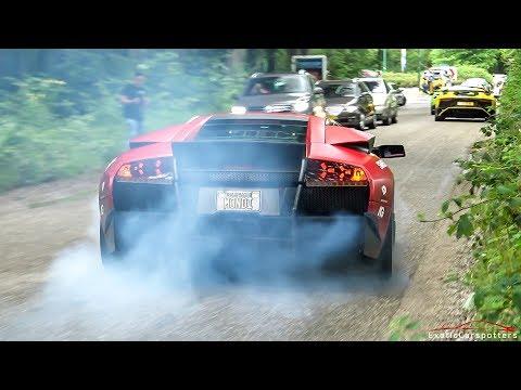 Supercars Accelerating - Straight Piped Murcielago, Apollo IE, LaFerrari, Akrapovic GT3, Senna, F40