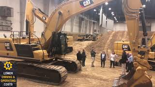 Video still for Cat Excavator Demo at 2018 Event