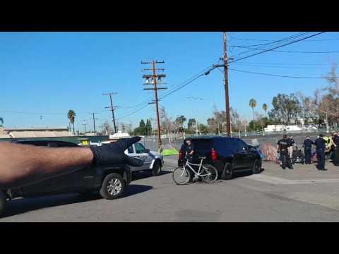 Anaheim California Jan. 17, 2017 Homeless raid, & recap Jan, 23, 2016
