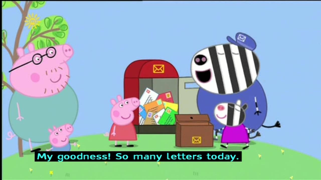 Peppa Pig Series 2 Zoe Zebra The Postman S Daughter With Subtitles