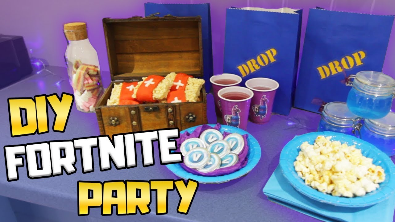 DIY Fortnite Birthday Party Ideas