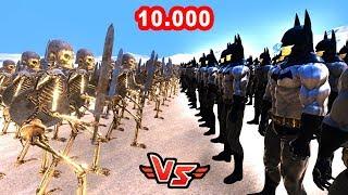 10.000 BATMAN VS 10.000 ZOMBIE 😱 - Super Heroes