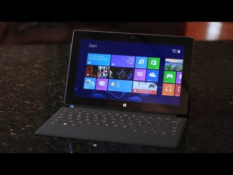 Microsoft Surface Tablet Unboxing (Windows 8)