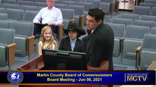 Martin County Board of Commissioners June 08,  2021 - Morning