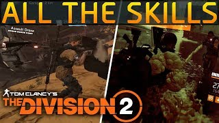 The Division 2 - All Skills & Skill Mods we know about!