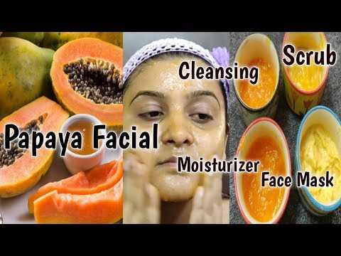 How To Do Papaya Fruit Facial For Glowing N Clear Skin At Home|Removes Dark Spots N Dry Skin|