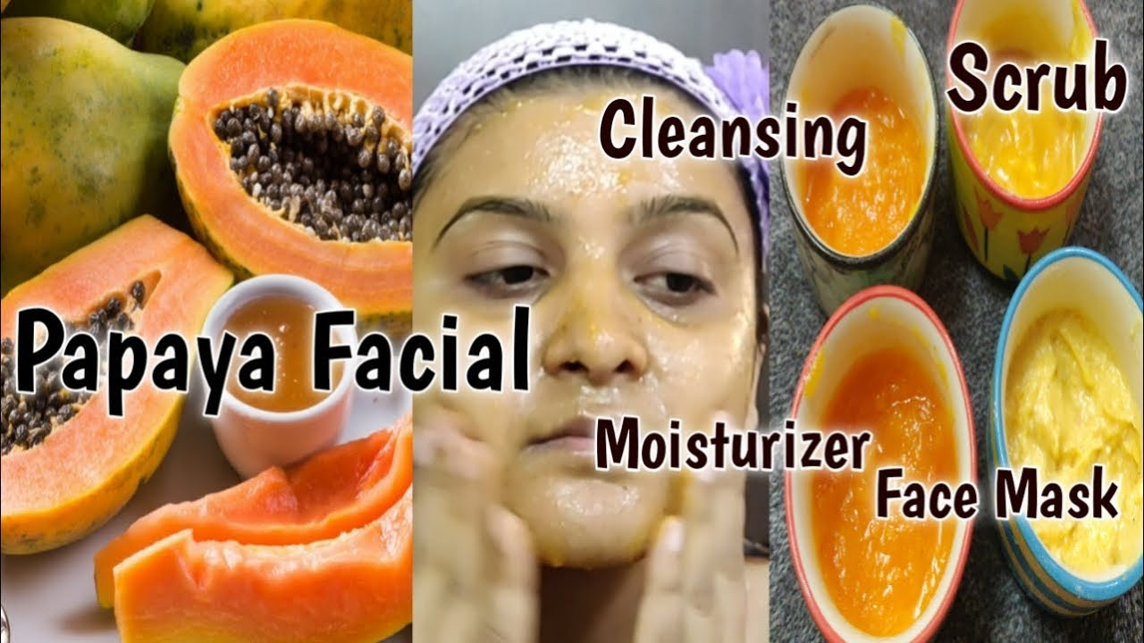 How To Do Papaya Fruit Facial For Glowing N Clear Skin At Home Removes Dark Spots N Dry Skin Youtube