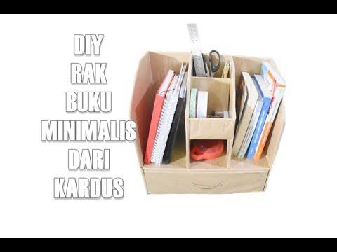Diy Rak Buku Minimalis Dari Kardus Youtube