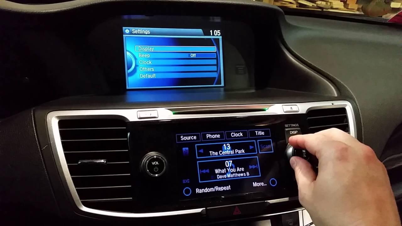 2014 Honda Accord Sport HU swap upgrade to premium - YouTube