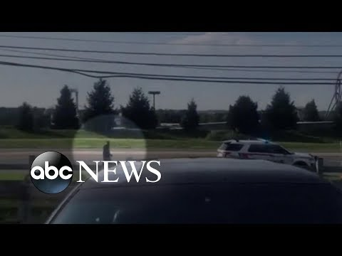 Police gunned down suspect on the side of a freeway in Pennsylvania