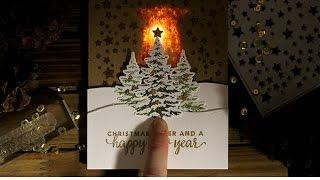 Snowy Christmas Light Up Card