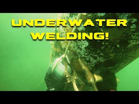 Commercial Diving - Welding Anodes Underwater - Underwater Welding in Seattle, WA