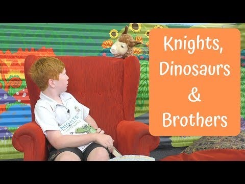 Lucky's Book Chat  - Knights vs Dinosaurs and I Swapped my Brother on the Internet