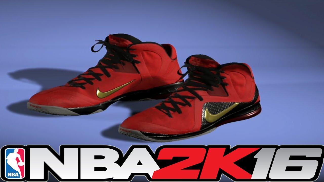 a8591132339 NBA 2K16 Shoe Creator - LeBron 9 Championship Pack ⋆ NBA2K16⋆ - YouTube