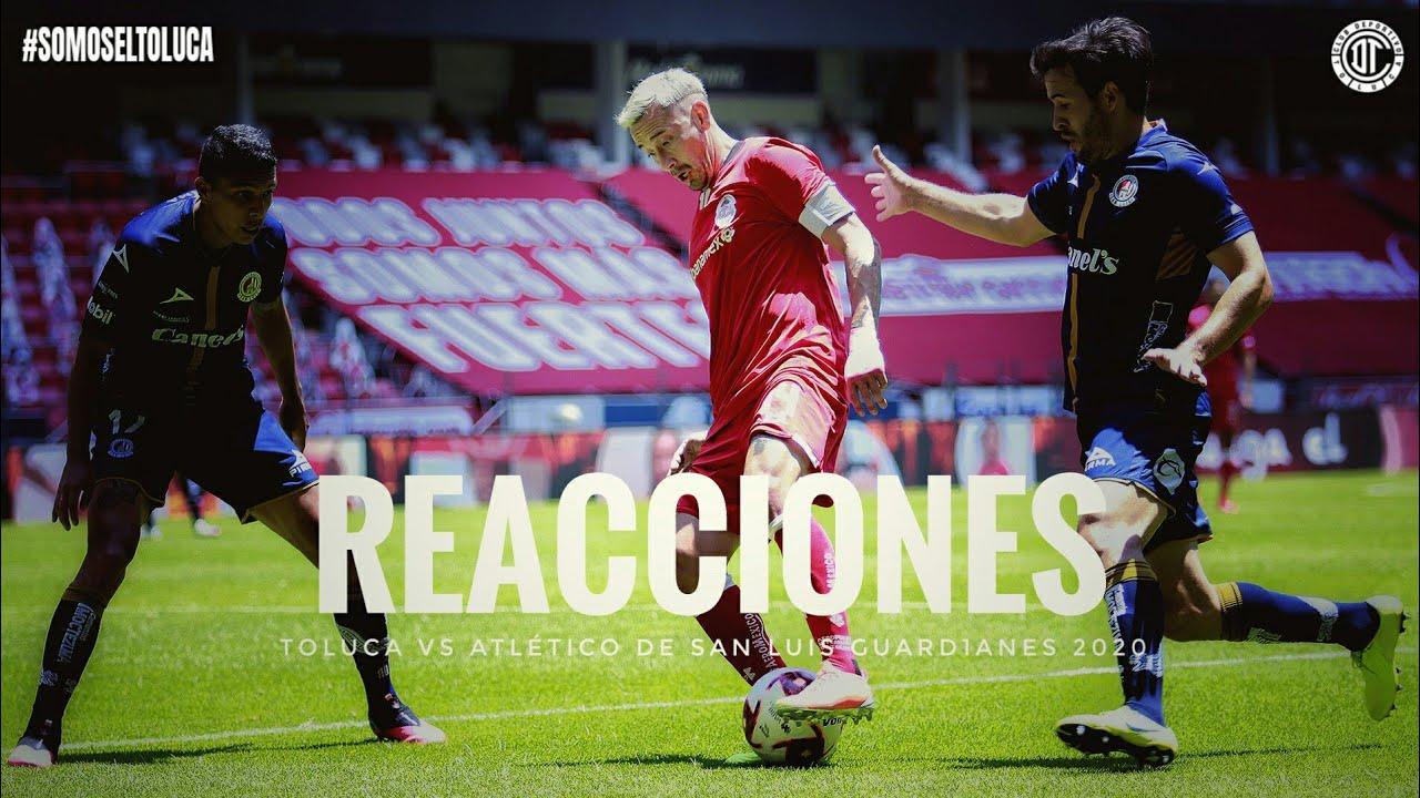 Reacciones Toluca Vs Atlético De San Luis J2 Guard1anes 2020