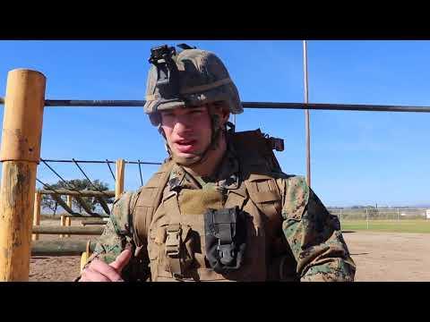 U.S. Marine Full Combat Load Workout
