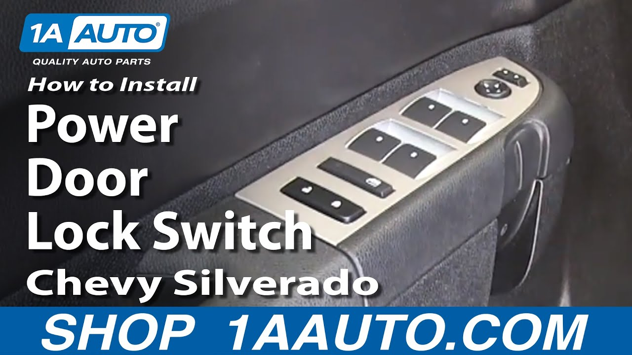 How To Replace Door Lock Switch 07 13 Chevy Silverado 1500