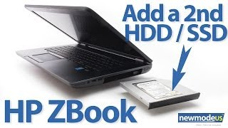 HP ZBook - add a 2nd HDD or SSD by replacing DVD optical drive
