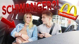 McDonalds PRANK | FREUNDIN IST SCHWANGER | FRUCHTBLASE GEPLATZT