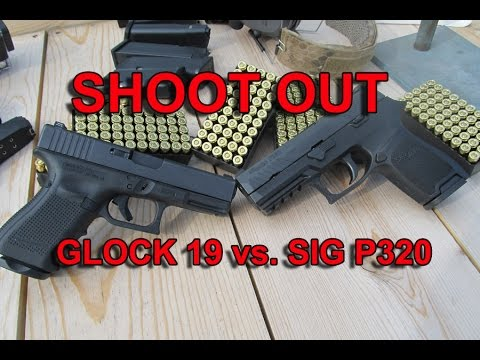 Glock 19 vs Sig P320 Shoot out