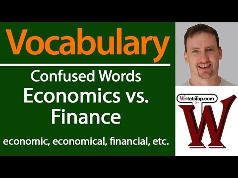 Confused Words: Economics vs. Finance