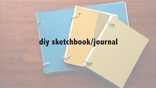 DIY sketchbook/journal (NO BINDING/STITCHING!)