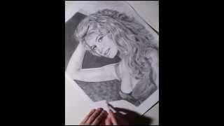 Portrait zeichnen mit Bleistift pencil portrait drawing Brigitte Bardot