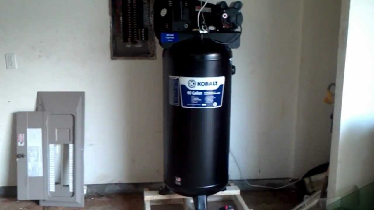 maxresdefault how to set up the air compressor part 1 quick and easy!! youtube kobalt 80 gallon air compressor wiring diagram at pacquiaovsvargaslive.co