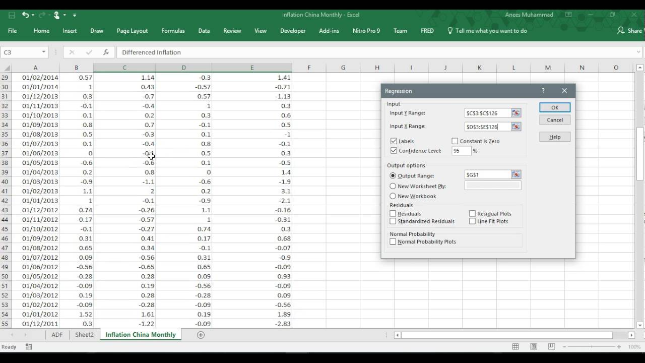 Unit Root Testing using Excel Dickey Fuller Test using ...
