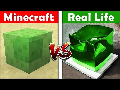 MINECRAFT SLIME IN REAL LIFE! Minecraft vs Real Life animation thumbnail