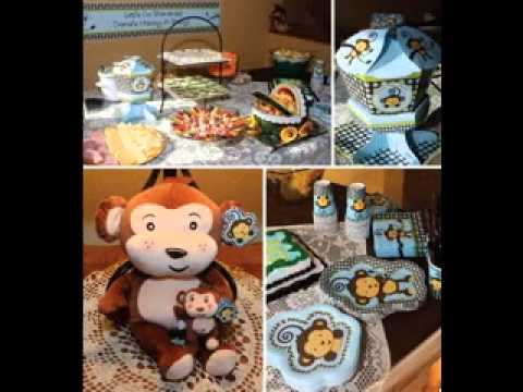 Easy Monkey Theme Baby Shower Ideas Youtube