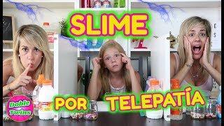 SLIME POR TELEPATIA!! TWIN TELEPATHY SLIME CHALLENGE!! TWINS VS DANIELA DE DIVERTIGUAY