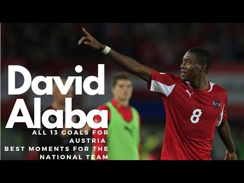 David Alaba - All 13 Goals for the National Team - Best Moments for Austria