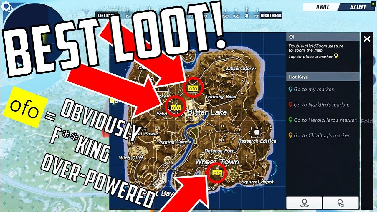Top Places To Find The Best Loot: Where To Find The BEST Weapons! Rules Of Survival! BEST