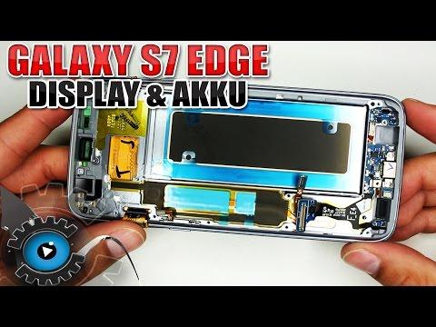 Samsung Galaxy S7 Edge Display & Akku & Backcover Wechseln Tauschen Reparieren [Deutsch/German]