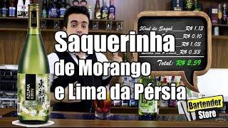 #Receita Saquerinha de Morango e Lima da Pérsia - Bartender Store TV