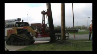 Video still for EZ Spot UR Attachments - JF Electric Pole Jack, Skid Steer Attachment