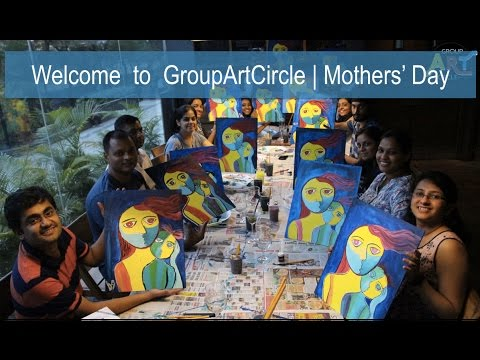 Mothers Day | GroupArtCircle | Painting Party Pune (Song: Bombay in my soul, Dj Suketu)
