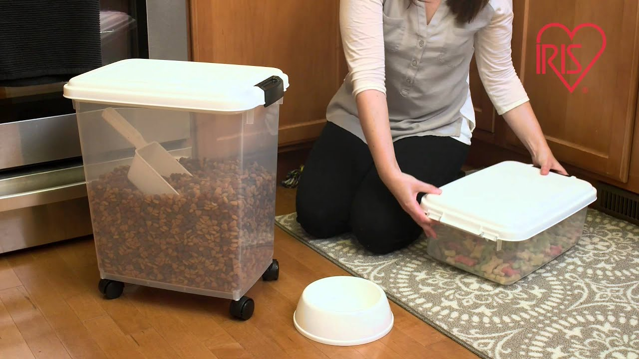 IRIS Airtight Pet Food Storage and Scoop Combos YouTube