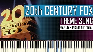 how to play 20th century fox intro theme song piano tutorial
