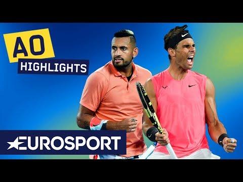 Rafael Nadal Vs Nick Kyrgios Highlights | Australian Open 2020 Round 4 | Eurosport